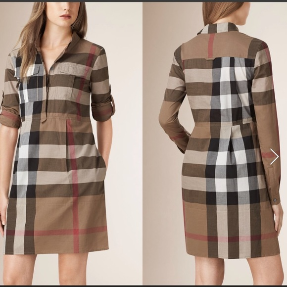 f4b3186d0bc  NEVER WORN  BURBERRY BRIT NWT LONG SLEEVE DRESS